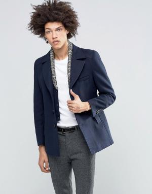 Gianni Feraud Пальто со съемной трикотажной вставкой Premium. Цвет: темно-синий