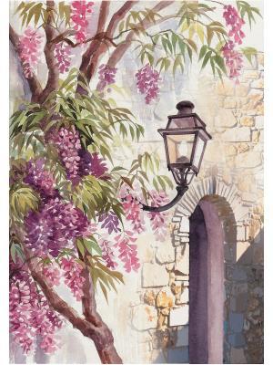 Набор для вышивки лентами Акварель Матренин Посад. Цвет: сиреневый, розовый