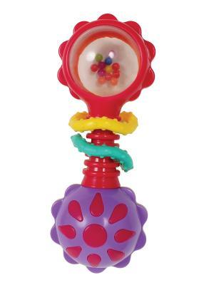 Playgro Игрушка-погремушка. Цвет: желтый, зеленый, голубой, фиолетовый, красный, оранжевый