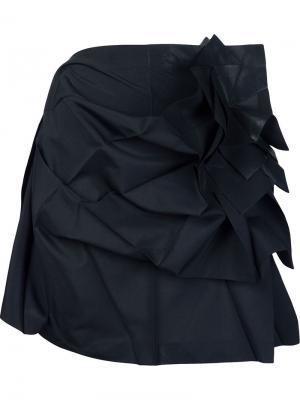 Юбка в стиле оригами Issey Miyake. Цвет: чёрный