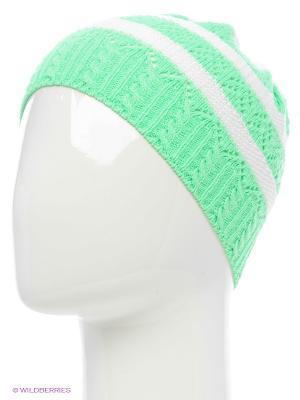 Шапка ELFRIO. Цвет: светло-зеленый, белый