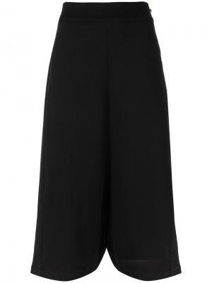 Укороченные широкие брюки Uma | Raquel Davidowicz. Цвет: чёрный