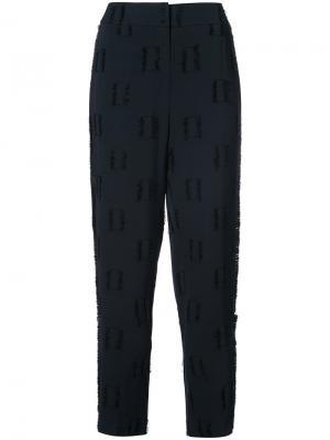 Зауженные брюки Derek Lam 10 Crosby. Цвет: синий