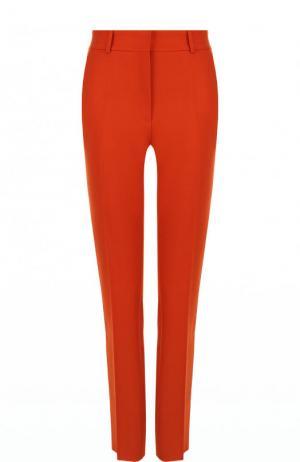 Однотонные шерстяные брюки со стрелками Victoria Beckham. Цвет: оранжевый