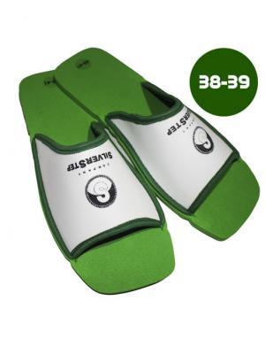 И1151 Тапочки для снятия усталости и тяжести в ногах, р-р 38-39 SilverStep. Цвет: зеленый