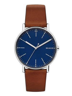 Часы SKAGEN. Цвет: синий, коричневый, серебристый