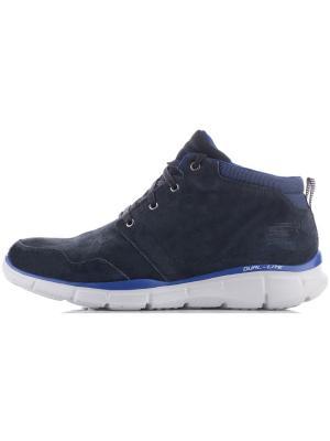 Ботинки SKECHERS. Цвет: синий, белый