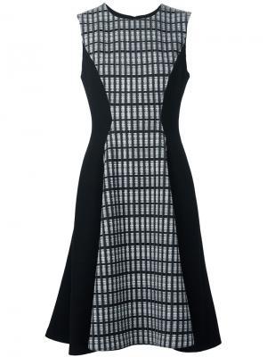 Платье без рукавов Lela Rose. Цвет: чёрный