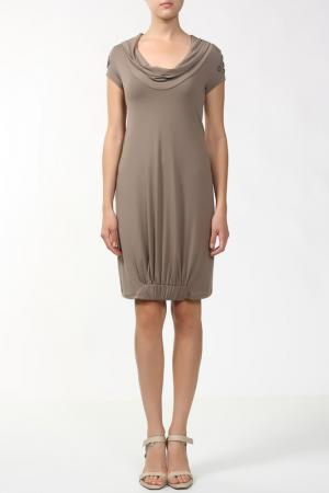 Платье Ikiler. Цвет: хаки