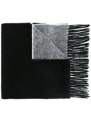 Двухцветный шарф Ps By Paul Smith. Цвет: чёрный