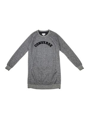 Джемпер Long Sleeve Sweatshirt Dress Converse. Цвет: серый
