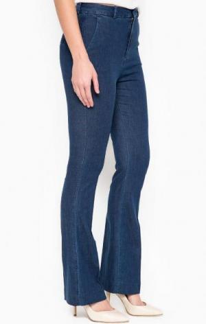 Расклешенные синие брюки DRYKORN. Цвет: синий