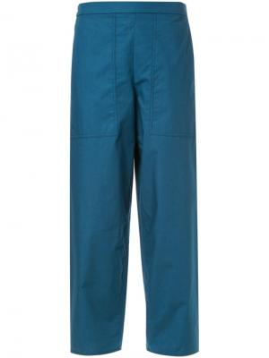 Укороченные брюки Lemaire. Цвет: синий