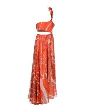 Длинное платье PINKO. Цвет: оранжевый