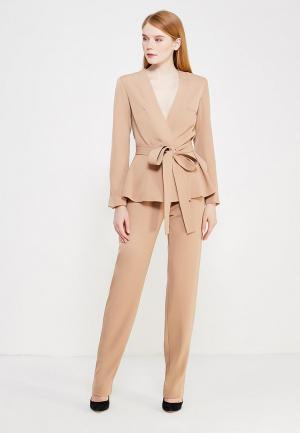 Комплект жакет и брюки Mazal. Цвет: бежевый