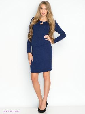 Платье для беременных ФЭСТ 58514Е/темно-синий