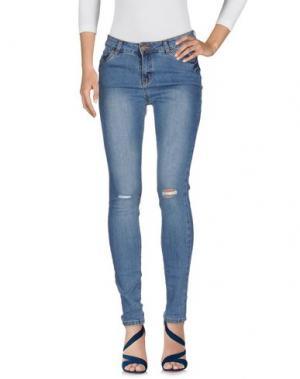 Джинсовые брюки SUBLEVEL. Цвет: синий