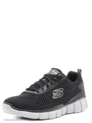 Кроссовки SKECHERS. Цвет: черный, серый