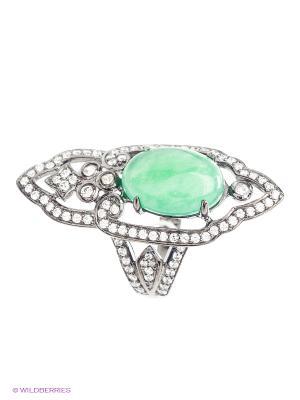 Кольцо BALEX. Цвет: зеленый, серебристый, черный