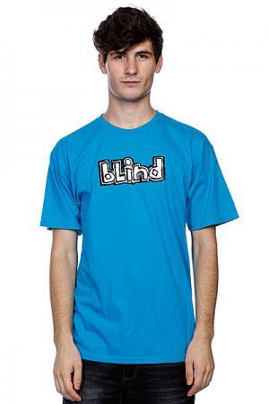 Футболка  Fluorescent Og Logo Turquoise Blind. Цвет: голубой
