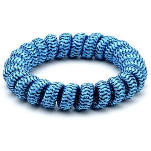 Резинка-Пружинка для волос, арт. РПВ-224 Бусики-Колечки. Цвет: синий