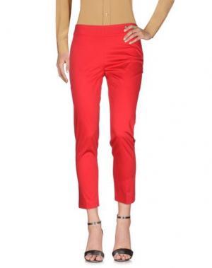 Повседневные брюки LAFTY LIE. Цвет: красный
