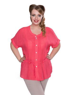 Блуза, EvaGraffova. Цвет: розовый
