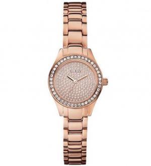 Часы с золотистым металлическим браслетом Guess