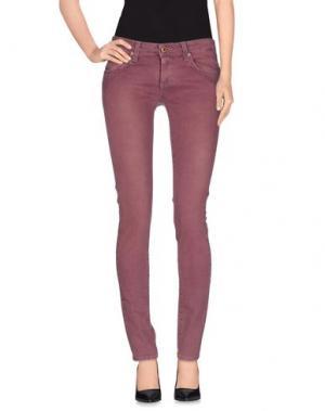 Джинсовые брюки FIORUCCI. Цвет: красно-коричневый