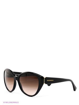 Очки солнцезащитные Emporio Armani. Цвет: черный, коричневый