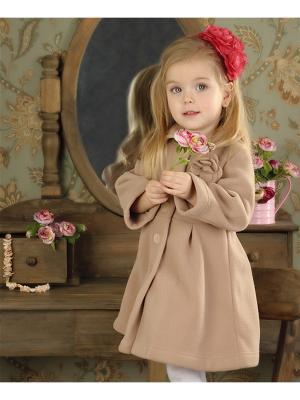 Пальто флисовое без подклада МИКИТА. Цвет: темно-бежевый