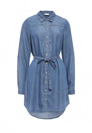 Рубашка джинсовая Mamalicious. Цвет: синий