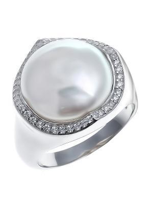 Кольцо Teosa. Цвет: кремовый, серебристый