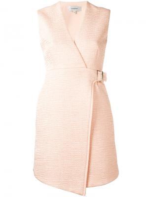 Расклешенное платье с запахом Carven. Цвет: розовый и фиолетовый