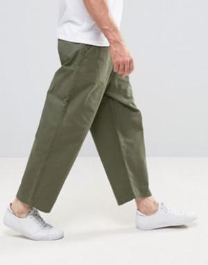 Dr Denim Широкие укороченные джинсы защитного зеленого цвета Melvin. Цвет: зеленый