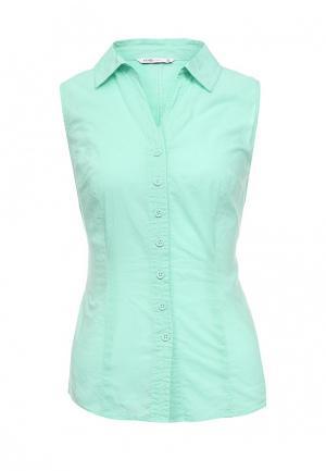 Блуза oodji. Цвет: бирюзовый