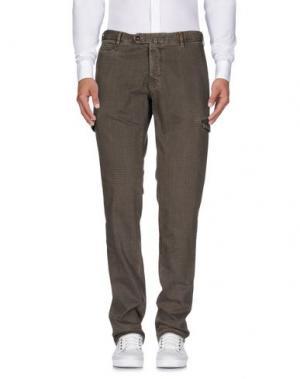 Повседневные брюки GIO ZUBON. Цвет: хаки
