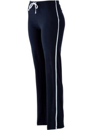 Спортивные брюки стретч (темно-синий) bonprix. Цвет: темно-синий