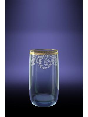 Набор 6 стаканов для сока эдем с рисунком каскад Гусь-Хрустальный. Цвет: прозрачный