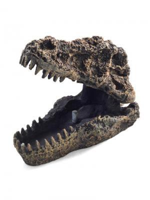 Грот аэрационный Череп динозавра 115*75*80мм. LAGUNA. Цвет: серый
