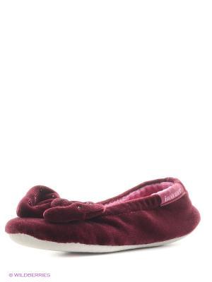 Тапочки Isotoner. Цвет: бордовый