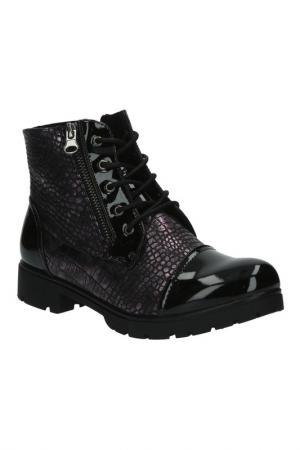 Ботинки KENKA. Цвет: черно-бордовый