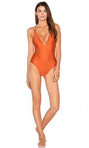 Сплошной купальник thai ballet Vix Swimwear. Цвет: тёмно-оранжевый