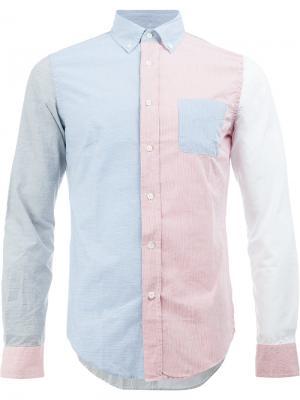 Рубашка дизайна колор-блок Wooster + Lardini. Цвет: многоцветный