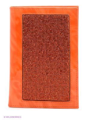 Обложка для паспорта VIVIAN ROYAL. Цвет: оранжевый