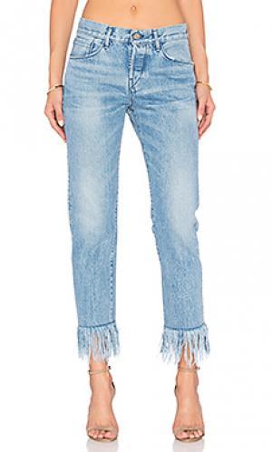 Укороченные джинсы straight fringe 3x1. Цвет: none