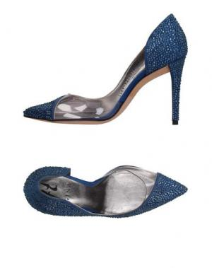 Туфли GINA. Цвет: синий