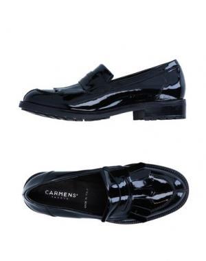 Мокасины CARMENS. Цвет: черный