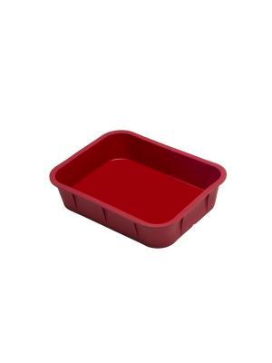 Силиконовая форма для выпечки прямоугольная OURSSON. Цвет: красный