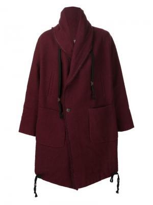 Двубортное пальто Uma Wang. Цвет: красный